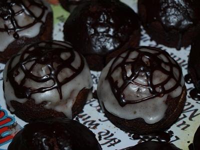 halloween süti pókhálós