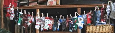 adventi kalendáriumötletek zoknikból