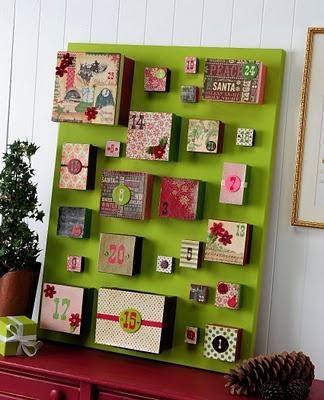 adventi kalendárium dobozokkal