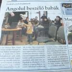 Benne vagyunk az újságban! :)