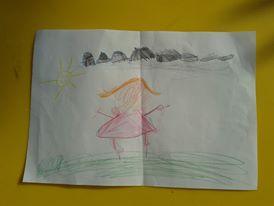 ajándék Esztertől a gyerek angol tábor 2. napján