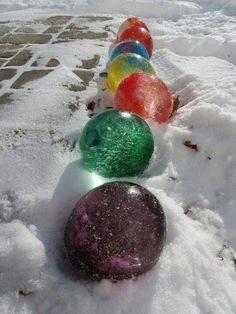 Kreatív játék a hóban