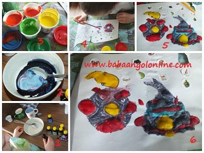 angry birds pufi festékből