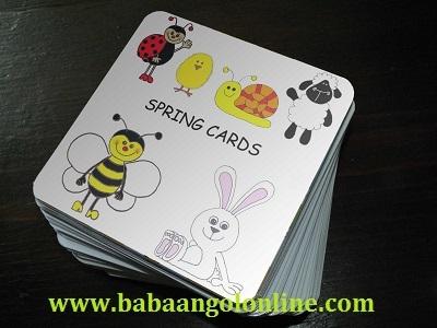 tavaszi baba angol kártyák